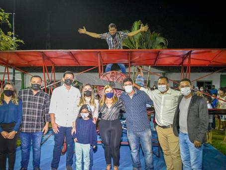 Prefeitura de Brasiléia entrega Praça Hugo Poli revitalizada e comemora com show da banda de música