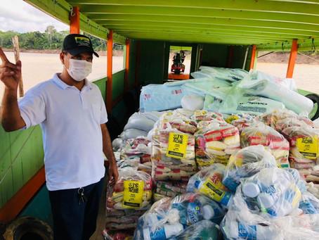 Prefeitura entrega donativos recebidos da campanha SOS Acre as comunidades ribeirinhas