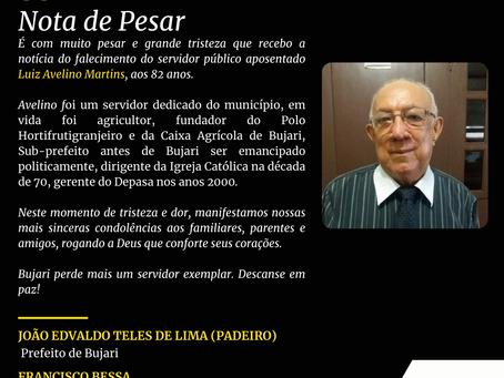 Nota de pesar: Luiz Avelino Martins