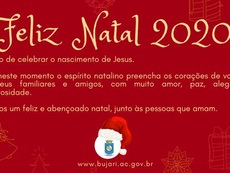 Prefeitura de Bujari deseja um Feliz Natal 2020