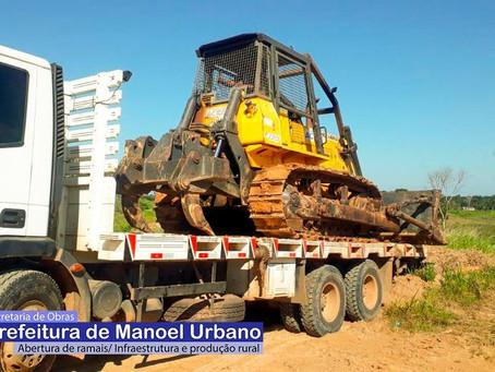Manoel Urbano: Prefeitura investe em infraestrutura de ramais e produção