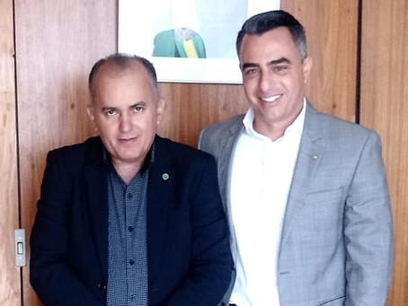 Prefeito André Maia é recebido pelo assessor da ministra da Agricultura Tereza Cristina