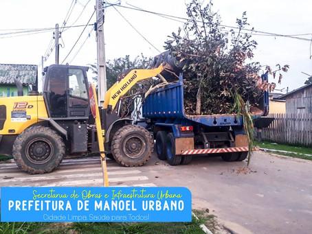 PREFEITURA DE MANOEL URBANO: Cidade limpa, é cidade bonita e povo saudável!