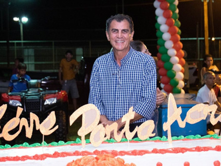 Festa de comemoração do aniversário do município e do dia do trabalhador