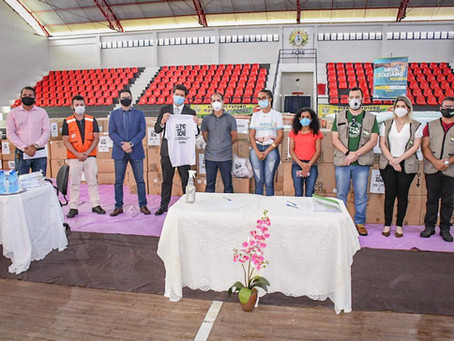 Prefeitura de Rodrigues Alves recebe doações da campanha SOS Acre