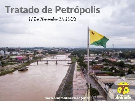 17 de novembro Tratado de Petrópolis