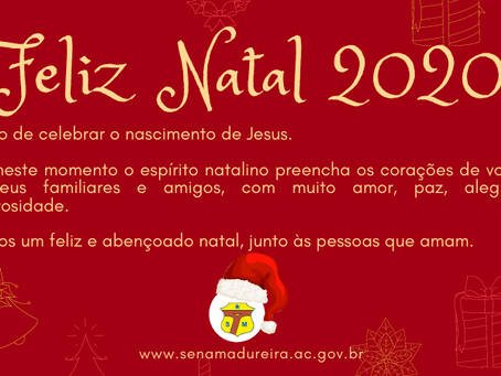 Prefeitura de Sena Madureira deseja um Feliz Natal 2020