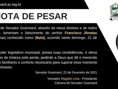 Nota de Pesar: Francisco Jônatas Meireles da Silva
