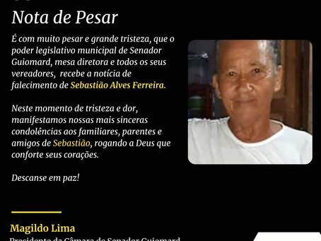 Nota de Pesar: Sebastião Alves Ferreira