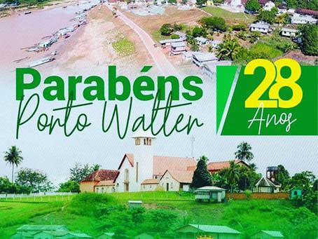 Prefeitura de Rodrigues Alves parabeniza Porto Walter pelos 28 anos