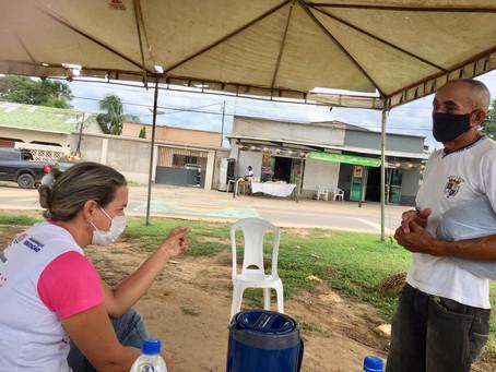 Rodrigues Alves - Idosos acima de 70 anos são vacinados contra a Covid-19