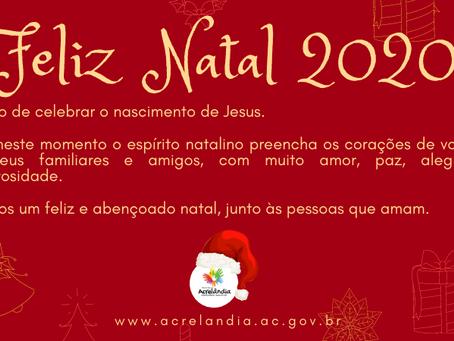 Prefeitura de Acrelândia deseja um Feliz Natal 2020