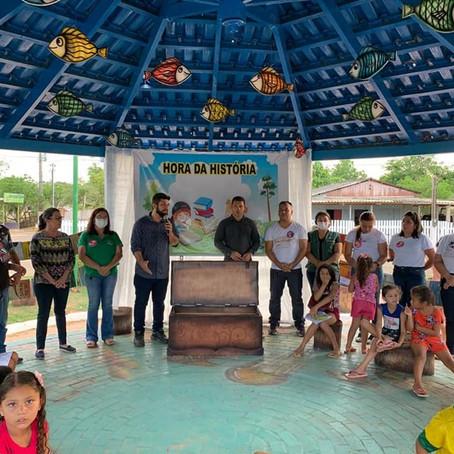 Prefeitura de Brasiléia e Rede Urbans95 realizam Roda de Leitura para crianças do Leonardo Barbosa