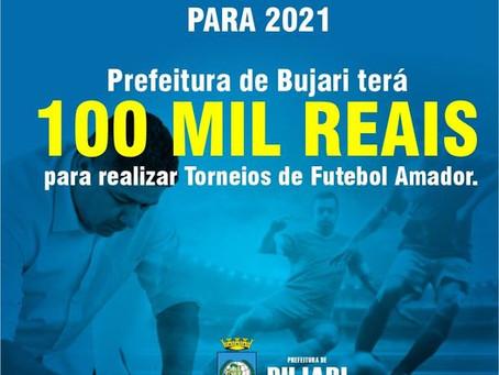 Prefeito Romualdo Araújo assina convênio de 100 mil reais para o esporte bujariense