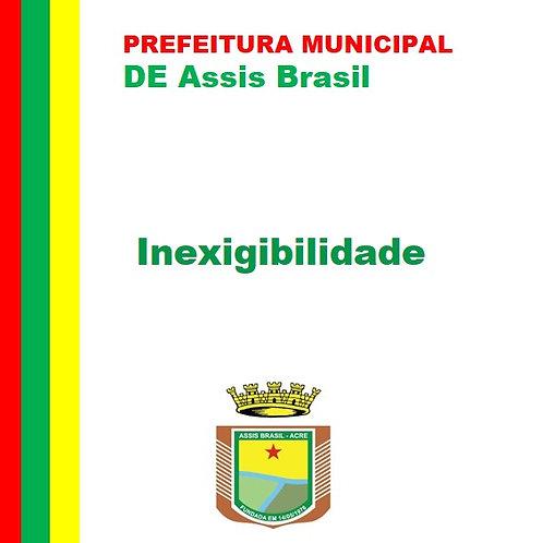Inexigibilidade 001/2021 - Consultoria e Assessoria Jurídica