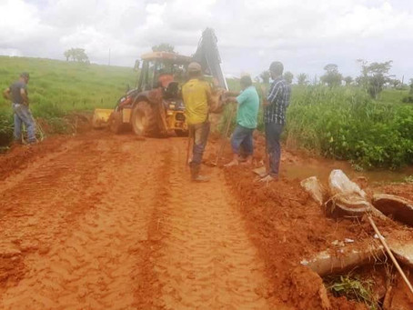 Prefeitura de Bujari recupera bueiro no ramal Abib Curi danificado pelas fortes chuvas