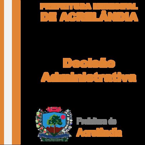 Decisão Administrativa -Empresa M.S.M. INDUSTRIAL LTDA