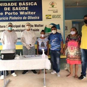 Porto Walter amplia vacinação para idosos de 65 a 69 anos