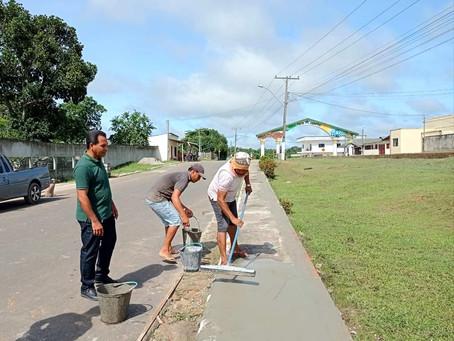 Prefeitura inicia os trabalhos de revitalização da praça próximo ao Portal