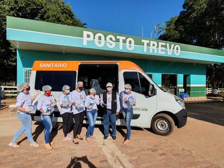 Prefeitura de Porto Acre por meio da secretaria de saúde entrega kits de higiene do covid-19