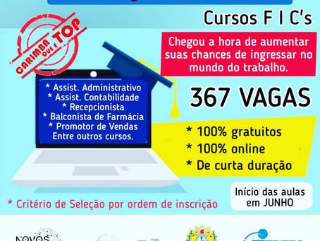 Aberta as inscrições para educandos em cursos de formação inicial e continua (FIC's)