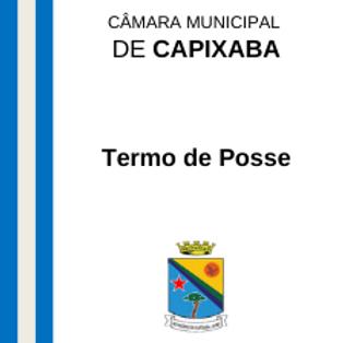 Termo de Posse - Antônio Cordeiro da Silva