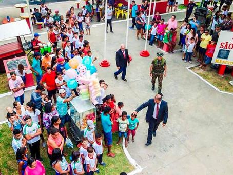 Aniversário de 42 anos da cidade trouxe várias atrações para as crianças