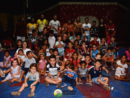 Prefeitura leva crianças ao Circo da Pepa para momento de diversão, cultura, lazer e gargalhadas