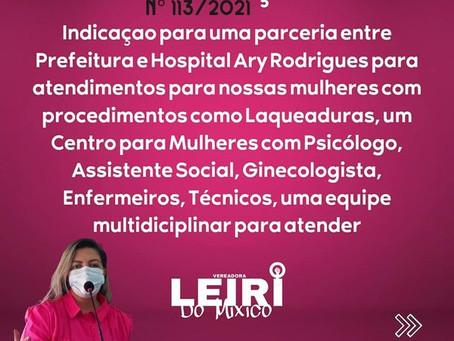 Vereadora Leire do Mixico faz indicação para saúde municipal