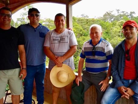 Sebastião Correia fiscaliza obras e participa de torneio na comunidade Santa Maria