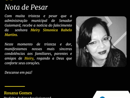 Nota de Pesar: Meiry Simonica Rabelo Martins
