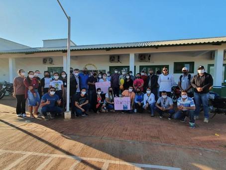 """Ação conjunta das secretarias municipais de Acrelândia viabilizam carreata """"Dose da Esperança"""""""