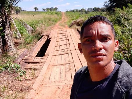 Vereador Felipe Pacheco reivindica recuperação de ponte no ramal Eletrônico