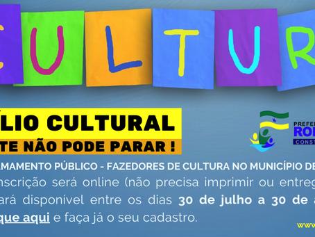 Prefeitura de Rodrigues Alves abre chamada para cadastramento de artistas e fazedores de cultura