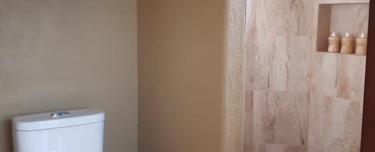 Shower in bathroom of Iguana Room