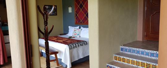 Interior shot of Iguana Room at Casa Arcoiris