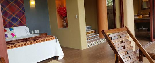 Interior of Iguana room at Casa Arcoiris
