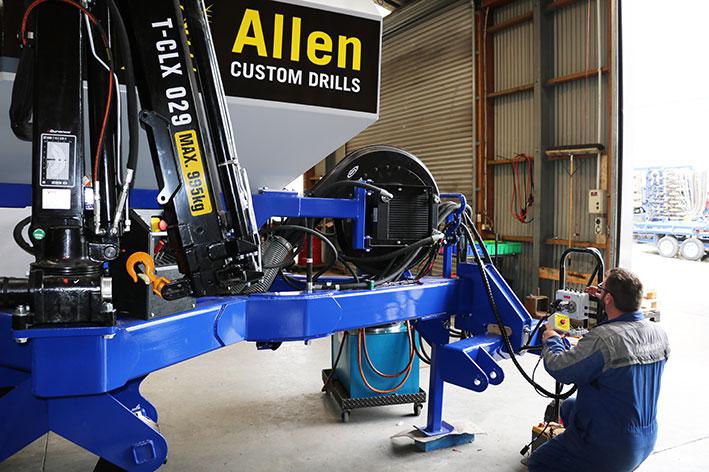 Newlands-working-on-Custom-Drill-install