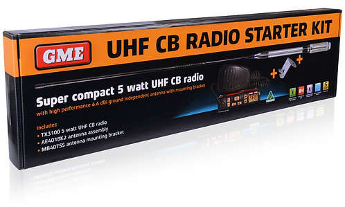 GME UHF Radio starter pack with aerial