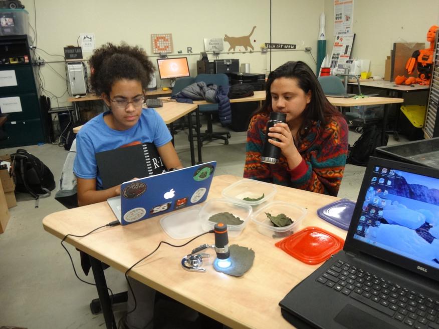 Group Meeting (11/26/17) - Emma and Sabrina work on the Final Presentation