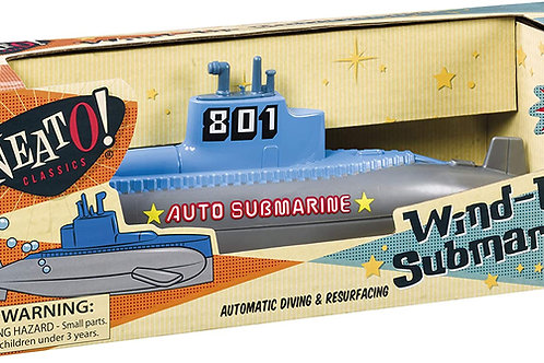 Wind Up Diving Submarine