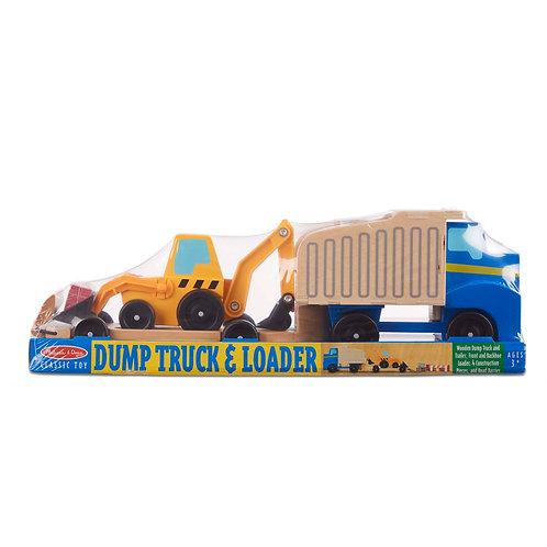 Classic Toy Dump Truck & Loader