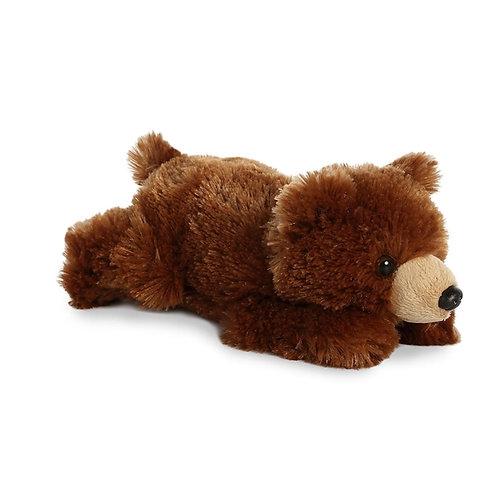 Stuffed Grizzly Bear Mini Flopsie