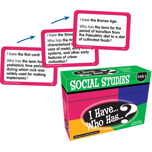 I Have, Who Has Social Studies Game Grade 6