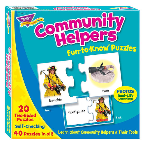 Community Helpers Fun-to-Know Puzzles