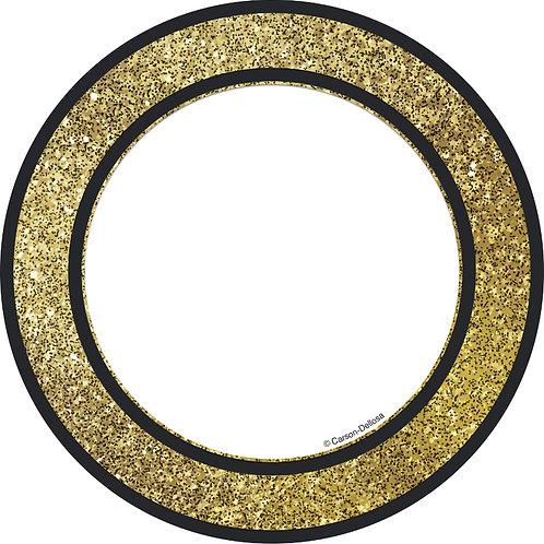 Gold Glitter Dots Cut-Outs