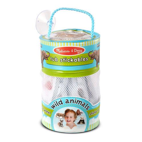 Tub Stickables - Wild Animals Soft Shapes Bath Toy