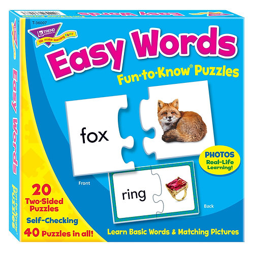 Fun-to-Know Puzzles: Easy Words