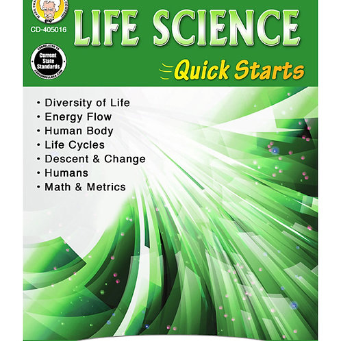 Life Science Quick Starts Grades 4-8