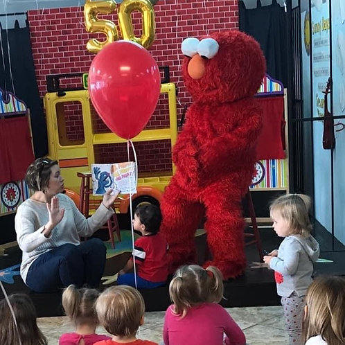 Delivery by Elmo!